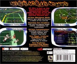 Box back cover for NFL Blitz 2001 on the Sega Dreamcast.