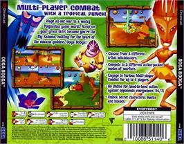 Box back cover for Ooga Booga on the Sega Dreamcast.