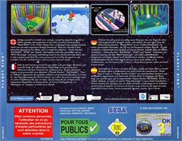Box back cover for Planet Ring on the Sega Dreamcast.