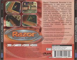 Box back cover for Razor Freestyle Scooter on the Sega Dreamcast.