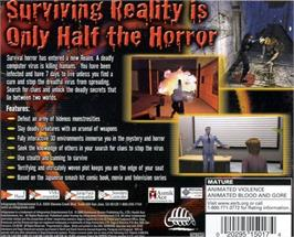 Box back cover for Ring: Terror's Realm on the Sega Dreamcast.