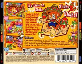 Box back cover for Samba De Amigo on the Sega Dreamcast.