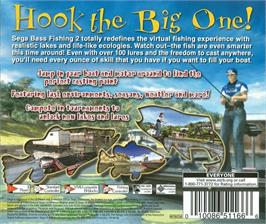 Box back cover for Sega Bass Fishing 2 on the Sega Dreamcast.