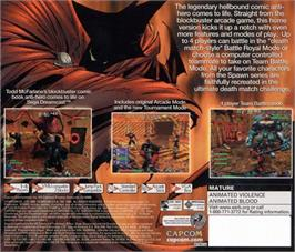 Box back cover for Spawn: In the Demon's Hand on the Sega Dreamcast.