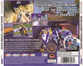 Box back cover for Suzuki ALSTARE Extreme Racing on the Sega Dreamcast.