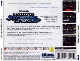 Box back cover for Tokyo Xtreme Racer on the Sega Dreamcast.