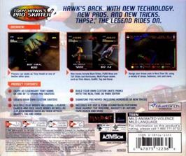 Box back cover for Tony Hawk's Pro Skater 2 on the Sega Dreamcast.
