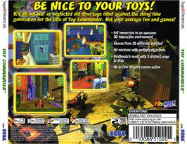 Box back cover for Toy Commander on the Sega Dreamcast.