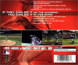 Box back cover for World Series Baseball 2K1 on the Sega Dreamcast.