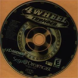 Artwork on the CD for 4 Wheel Thunder on the Sega Dreamcast.