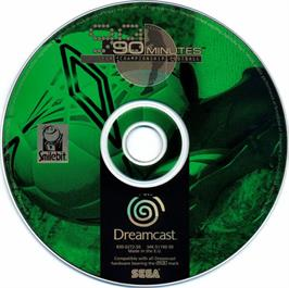 Artwork on the CD for 90 Minutes: Sega Championship Football on the Sega Dreamcast.