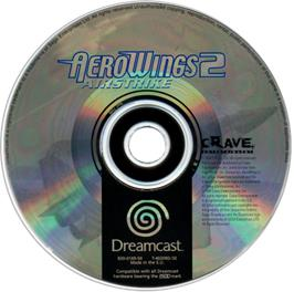 Artwork on the CD for Aerowings 2: Air Strike on the Sega Dreamcast.