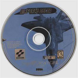 Artwork on the CD for Airforce Delta on the Sega Dreamcast.