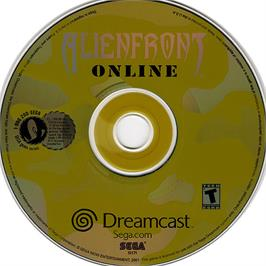 Artwork on the CD for Alien Front Online on the Sega Dreamcast.