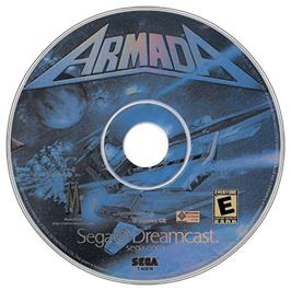 Artwork on the CD for Armada on the Sega Dreamcast.