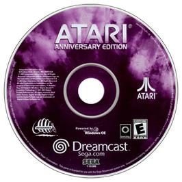 Artwork on the CD for Atari Anniversary Edition on the Sega Dreamcast.