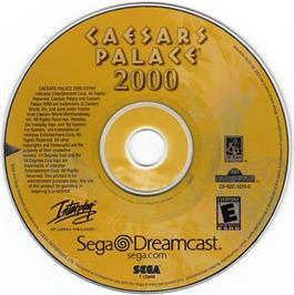 Artwork on the CD for Caesar's Palace 2000: Millennium Gold Edition on the Sega Dreamcast.