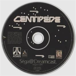 Artwork on the CD for Centipede on the Sega Dreamcast.