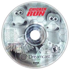 Artwork on the CD for Chicken Run on the Sega Dreamcast.