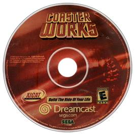 Artwork on the CD for Coaster Works on the Sega Dreamcast.
