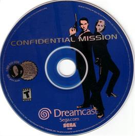 Artwork on the CD for Confidential Mission on the Sega Dreamcast.