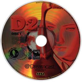 Artwork on the CD for D2 on the Sega Dreamcast.