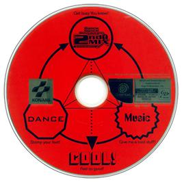 Artwork on the CD for Dance Dance Revolution 2nd Mix on the Sega Dreamcast.