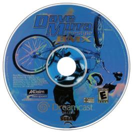 Artwork on the CD for Dave Mirra Freestyle BMX on the Sega Dreamcast.