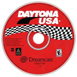 Artwork on the CD for Daytona USA on the Sega Dreamcast.