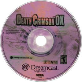 Artwork on the CD for Death Crimson OX on the Sega Dreamcast.