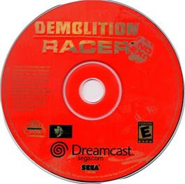 Artwork on the CD for Demolition Racer: No Exit on the Sega Dreamcast.