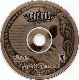 Artwork on the CD for Draconus: Cult of the Wyrm on the Sega Dreamcast.