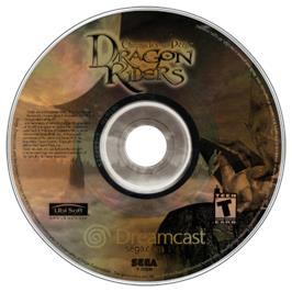 Artwork on the CD for Dragonriders: Chronicles of Pern on the Sega Dreamcast.