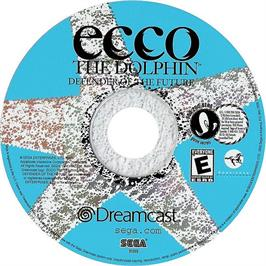 Artwork on the CD for Ecco the Dolphin: Defender of the Future on the Sega Dreamcast.