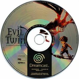 Artwork on the CD for Evil Twin: Cyprien's Chronicles on the Sega Dreamcast.