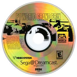 Artwork on the CD for F1 World Grand Prix on the Sega Dreamcast.