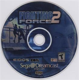 Artwork on the CD for Fighting Force 2 on the Sega Dreamcast.