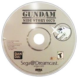 Artwork on the CD for Gundam Side Story 0079: Rise From the Ashes on the Sega Dreamcast.
