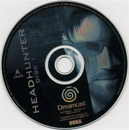Artwork on the CD for Headhunter on the Sega Dreamcast.