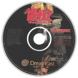 Artwork on the CD for Heavy Metal Geomatrix on the Sega Dreamcast.