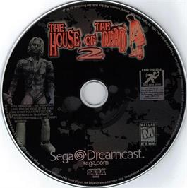 Artwork on the CD for House of the Dead 2 on the Sega Dreamcast.