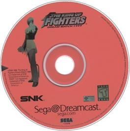 Artwork on the CD for King of Fighters: Dream Match 1999 on the Sega Dreamcast.