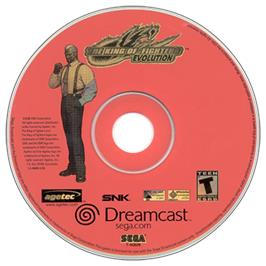 Artwork on the CD for King of Fighters '99 - Millenium Battle, The on the Sega Dreamcast.