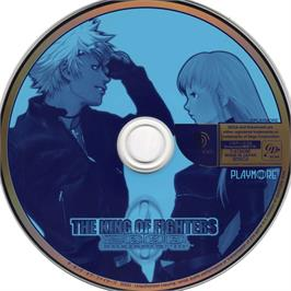Artwork on the CD for King of Fighters 2000 on the Sega Dreamcast.