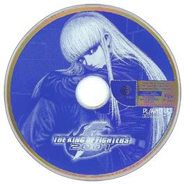 Artwork on the CD for King of Fighters 2001 on the Sega Dreamcast.