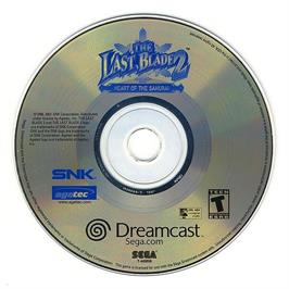 Artwork on the CD for Last Blade 2: Heart of the Samurai on the Sega Dreamcast.