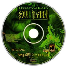 Artwork on the CD for Legacy of Kain: Soul Reaver on the Sega Dreamcast.