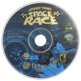 Artwork on the CD for Looney Tunes Space Race on the Sega Dreamcast.