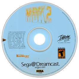 Artwork on the CD for MDK2 on the Sega Dreamcast.