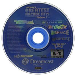Artwork on the CD for Midway's Greatest Arcade Hits 2 on the Sega Dreamcast.